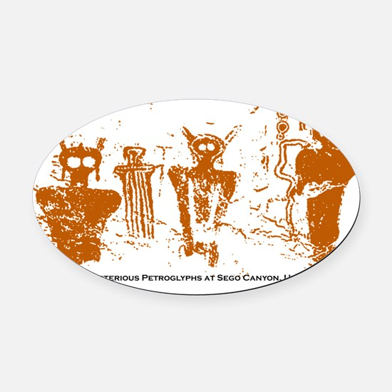 Sego-Canyon-Utah.gif Oval Car Magnet