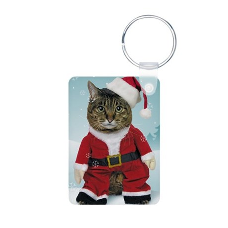 cpsanta_claws_stocking Aluminum Photo Keychain