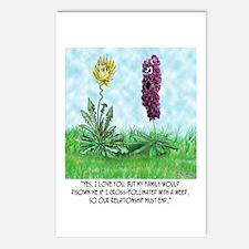 Flower Doesn't Believe in Cross Pollination Postca