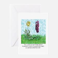 Flower Doesn't Believe in Cross Pollination Greeti