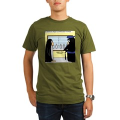 Penguin Police Lineup Organic Men's T-Shirt (dark)
