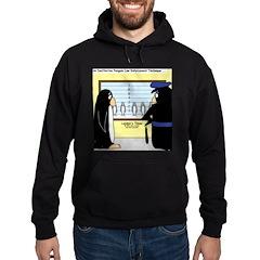 Penguin Police Lineup Hoodie (dark)