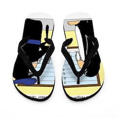 Penguin Police Lineup Flip Flops
