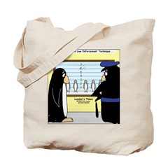 Penguin Police Lineup Tote Bag