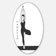 Stylized Yogini Sticker (Oval)