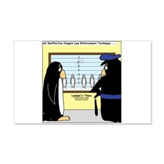 Penguin Police Lineup Wall Decal