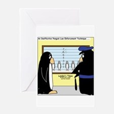 Penguin Police Lineup Greeting Card