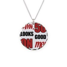 Funny 50th Birthday (Damn) Necklace Circle Charm