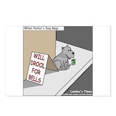 Pavlovs Dog Begging Postcards (Package of 8)