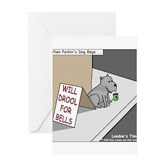 Pavlovs Dog Begging Greeting Card