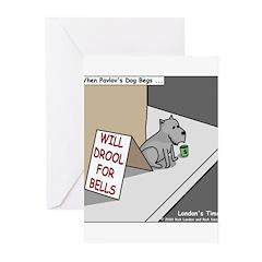 Pavlovs Dog Begging Greeting Cards (Pk of 20)
