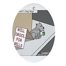 Pavlovs Dog Begging Ornament (Oval)