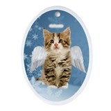 Christmas cat Oval Ornaments