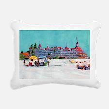 Hotel del Coronado Beach Rectangular Canvas Pillow