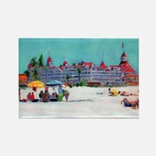Hotel del Coronado Beach Rectangle Magnet