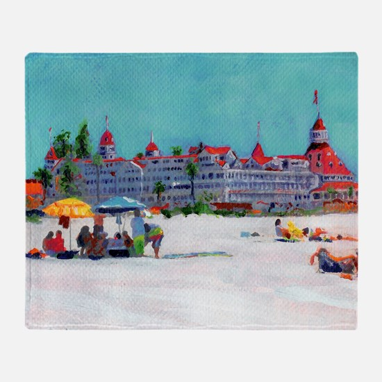 Hotel del Coronado Beach Throw Blanket