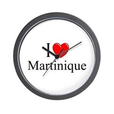 """I Love Martinique"" Wall Clock"