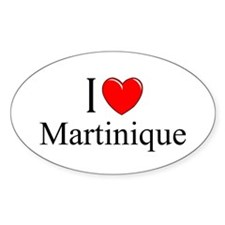 """I Love Martinique"" Oval Decal"