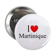 """I Love Martinique"" Button"