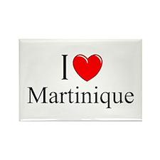 """I Love Martinique"" Rectangle Magnet"