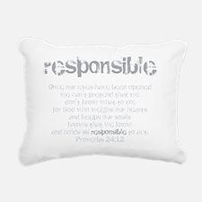 Responsible Rectangular Canvas Pillow