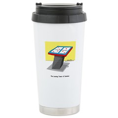 Leaning Tower of Pizza Stainless Steel Travel Mug