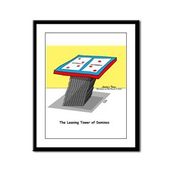 Leaning Tower of Pizza Framed Panel Print