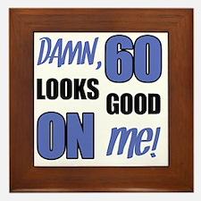 Funny 60th Birthday (Damn) Framed Tile