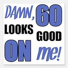 "Funny 60th Birthday (Dam Square Car Magnet 3"" x 3"""