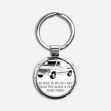 Be Nice Round Keychain