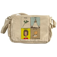 Parsley, Sage, Rosemary and Time Messenger Bag