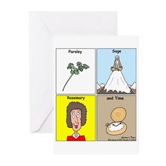 Parsley, Sage, Rosemary and Time Greeting Cards (P