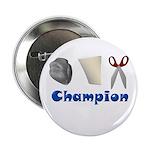 "Rock Paper Scissor Champ 2.25"" Button (10 pack)"