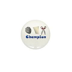 Rock Paper Scissor Champ Mini Button (10 pack)