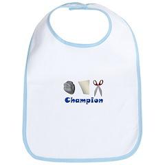 Rock Paper Scissor Champ Bib