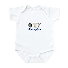 Rock Paper Scissor Champ Infant Bodysuit