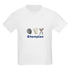 Rock Paper Scissor Champ Kids T-Shirt
