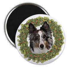 Wreath Sheltie Merle Magnet