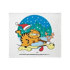Odie Reindeer Throw Blanket