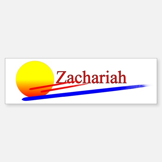 Zachariah Bumper Car Car Sticker
