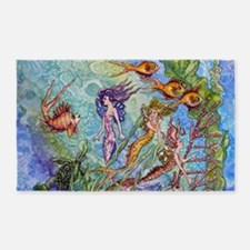 mermaid puzzel.jpg 3'x5' Area Rug