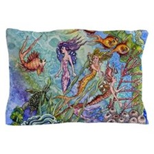 mermaid puzzel.jpg Pillow Case