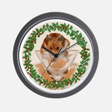 RoundHamster4 Wall Clock