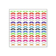 Girly Colorful Pattern Mustaches Sticker