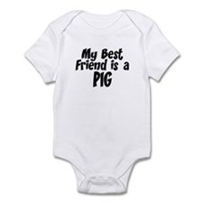 Pig BEST FRIEND Infant Bodysuit