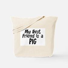 Pig BEST FRIEND Tote Bag