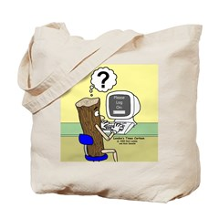 Log On Tote Bag