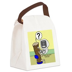 Log On Canvas Lunch Bag