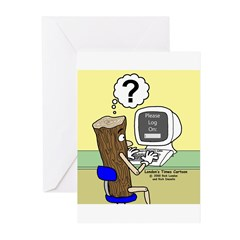 Log On Greeting Cards (Pk of 20)