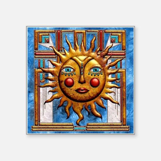 Harvest Moons Folk Sun Sticker